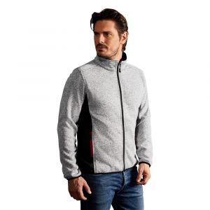 Veste en laine homme, XL, gris chiné
