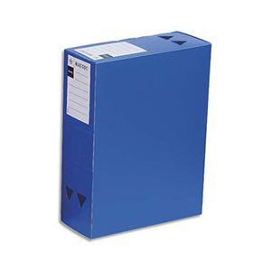 Boite de classement Maxidoc en polypropylène 12/10ème - dos 12 cm - coloris bleu opaque