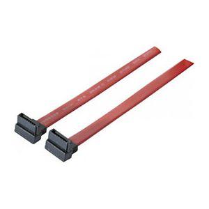 Cable SATA de 50cm avec 2 prises coudées vers le bas