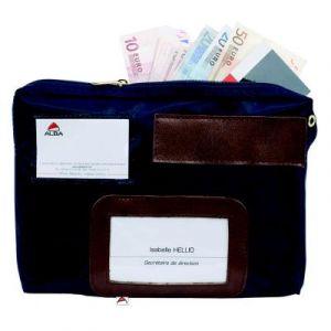 Pochette de caisse à soufflets Alba - format 27 x 18,5 x 4 cm - bleu