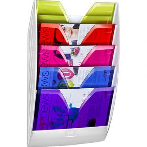 Présentoire mural Cep Happy - 5 cases multicolore - Dim hors tout : l 35 x h 58,4 x p 12 cm