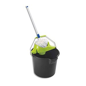 Ensemble de lavage espagnol - seau 14L - essoreur - balai à frange