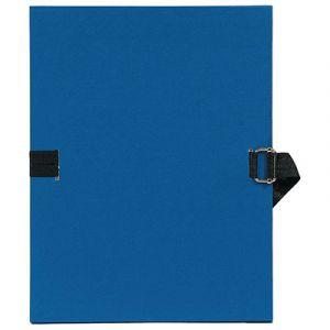 Chemise à dos extensible avec sangle - format 24 x 32 - qualité toilée - Coloris Bleu foncé