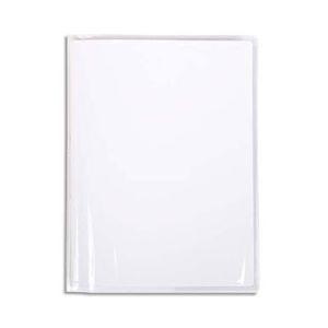 Protège-cahier Calligrapghe Cristal 12/100° avec rabats marque-page - 17x22 cm - Transparent