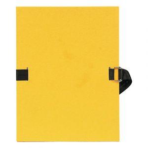 Chemise à dos extensible avec sangle - format 24 x 32 - qualité toilée - Coloris jaune