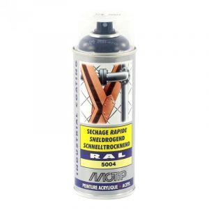 Bombe peinture Bleu noir brillant acrylique RAL 5004 Motip 400 ml M071