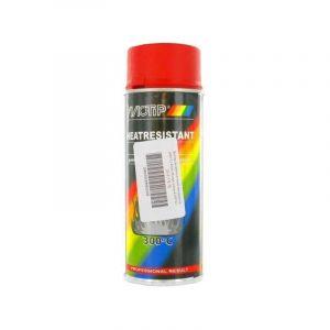 Bombe peinture rouge haute-température 300C Motip 400ml