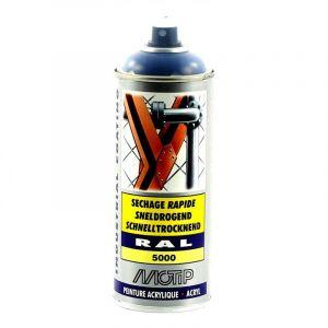 Bombe peinture Bleu violet brillant acrylique RAL 5000 Motip 400 ml M0