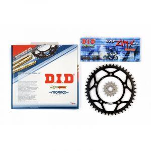 Kit chaîne DID acier Rieju 50 RS1 Evolution 98-