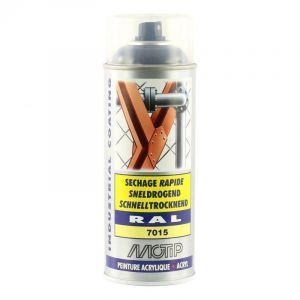 Bombe peinture Gris ardoise brillant acrylique RAL 7015 Motip 400 ml M