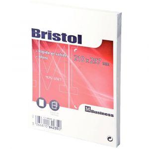 Fiche bristol uni blanche 210x297 - Paquet de 100