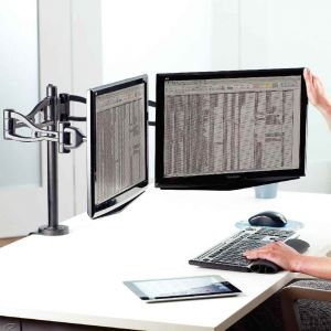 support double ecran pc comparer 104 offres. Black Bedroom Furniture Sets. Home Design Ideas