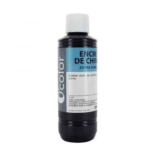 Encre de chine noire - Flacon de 250 ml