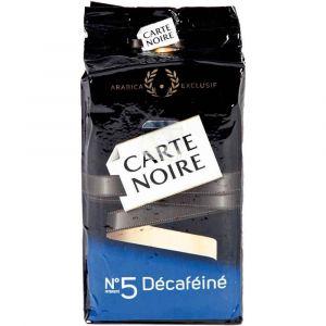 Paquet de café carte noir décaféiné 250 grammes