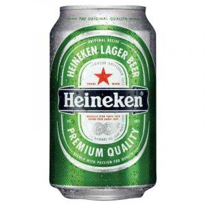 Canette de 33CL bière Heineken - Pack de 24