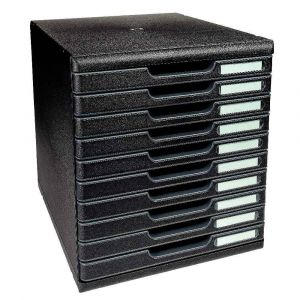Module de 10 tiroirs ferme Modulo RC de couleur noir