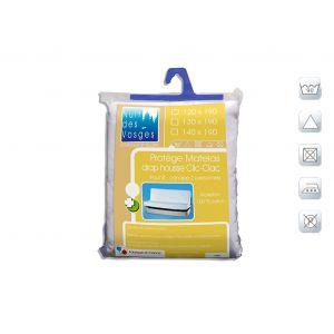 Protège matelas clic-clac absorbant coton Aubin 120x190