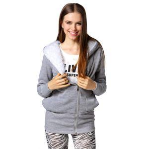 Veste Hooded Chaud Outerwear Hiver Zip Femmes - Neuf