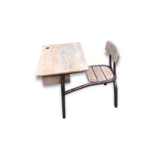 Ancien bureau dÂ'écolier en bois