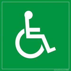 Panneau en PVC 'Symbole Handicapé'