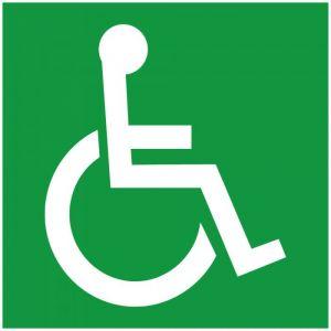 Panneau Photoluminescent 'Symbole Handicapé'