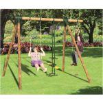 Chalet & Jardin Portique SIOUX Chalet et Jardin /réf 701564 Structure bois, une balançoire, une échelle et un vis-à-vis