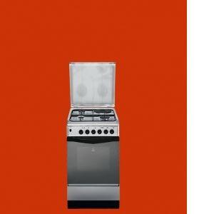 Cuisinière Indesit K3M1S(X) Cuisinière mixte, 3 gaz + 1 électrique  50 cm de large