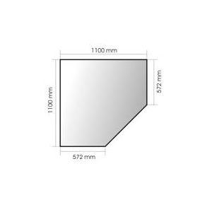 Plaque de Verre 6920-03 Invicta Plaque verre 110 x 110 x 57.2 x 57.2 cm