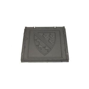 12996 SUPRA plaque d'âtre avec fournitures Fonte, 570 x 500 mm