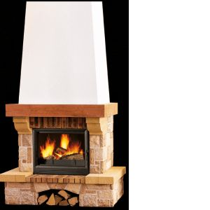 Cheminée MONTAVELLE 67 IROKO + F ASTRA SUPRA Puissance 10kW, bûches 50 cm