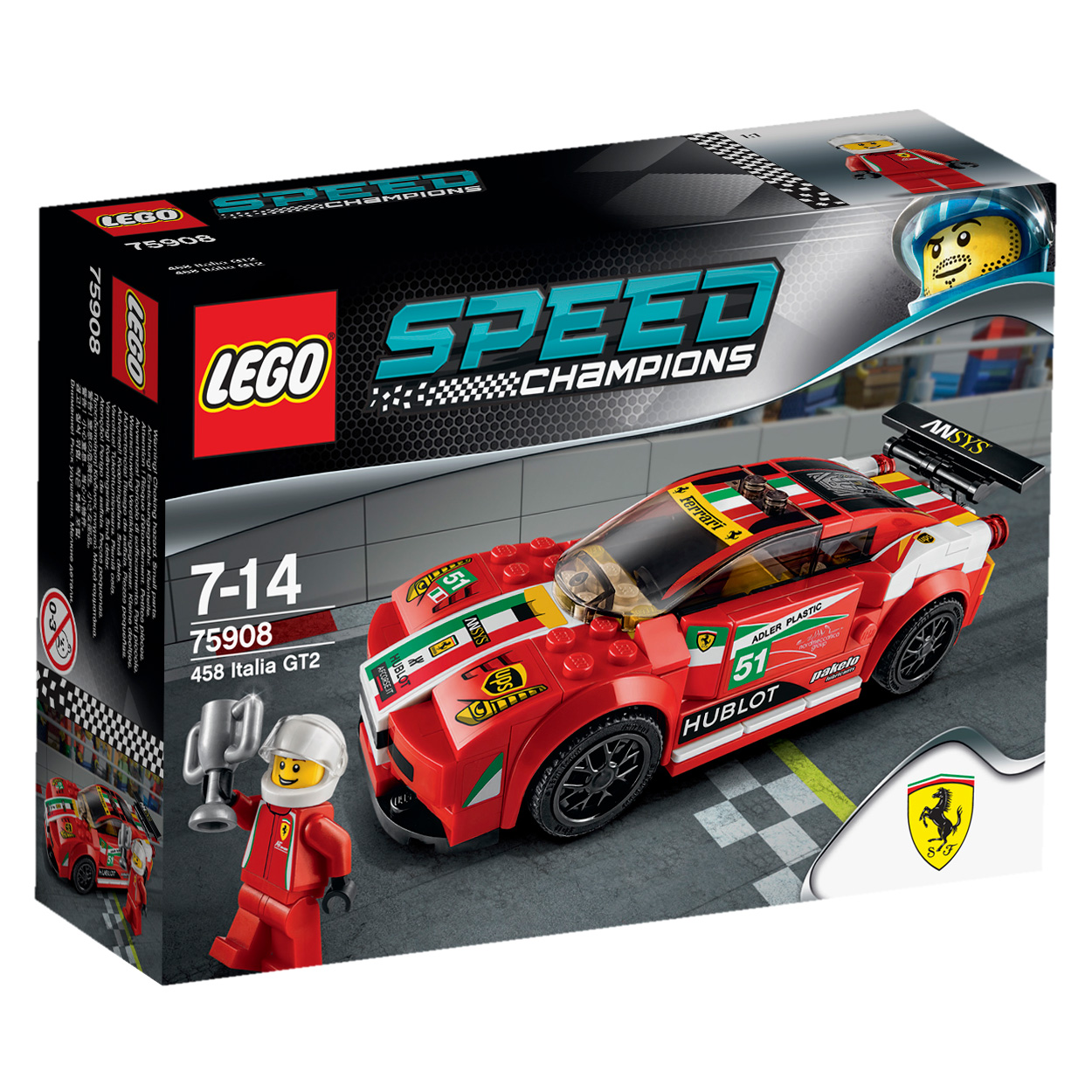 lego 75908 speed champions ferrari 458 italia gt2 comparer avec. Black Bedroom Furniture Sets. Home Design Ideas
