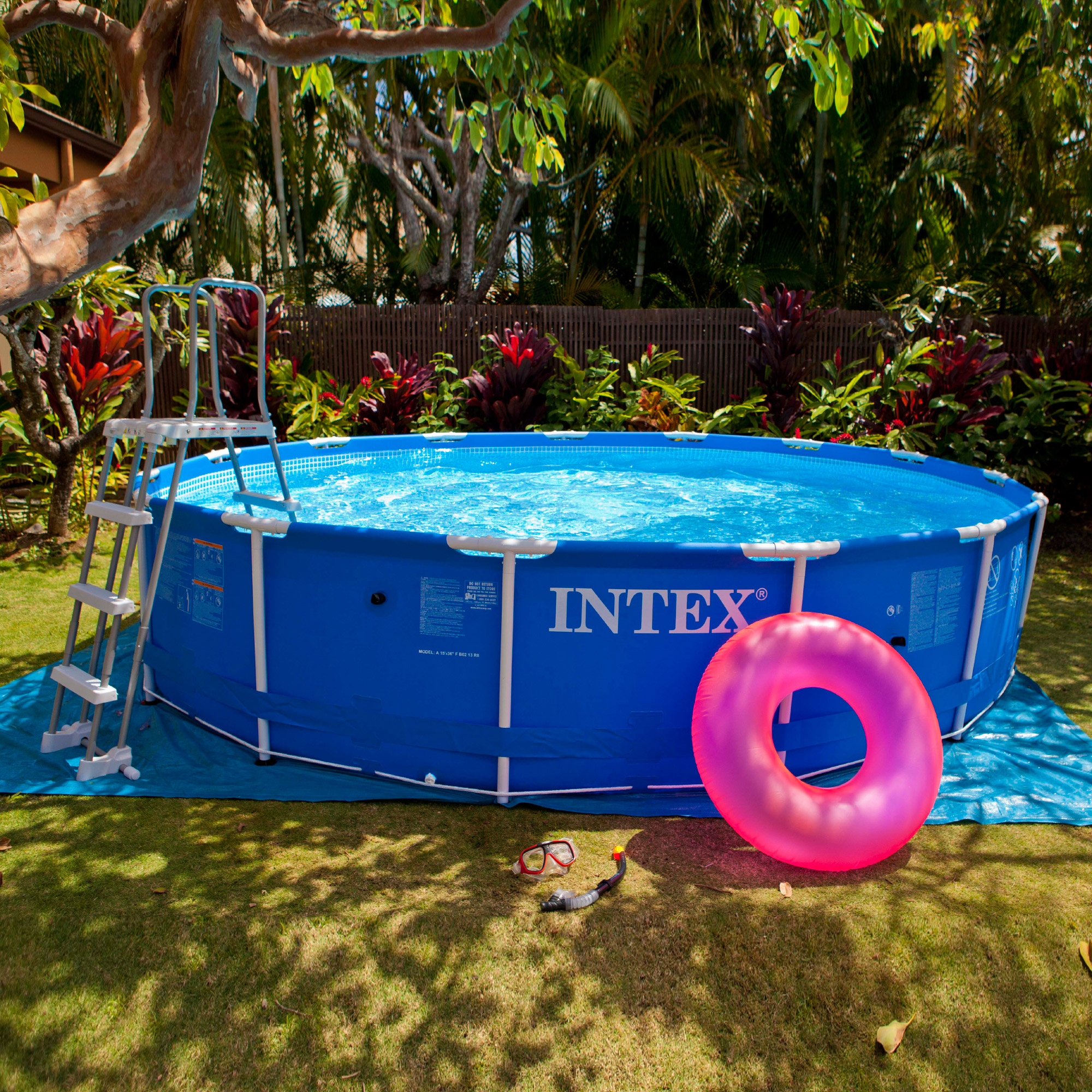 Intex 28202fr piscine hors sol tubulaire ronde 305 x for Piscine hors sol tubulaire ronde