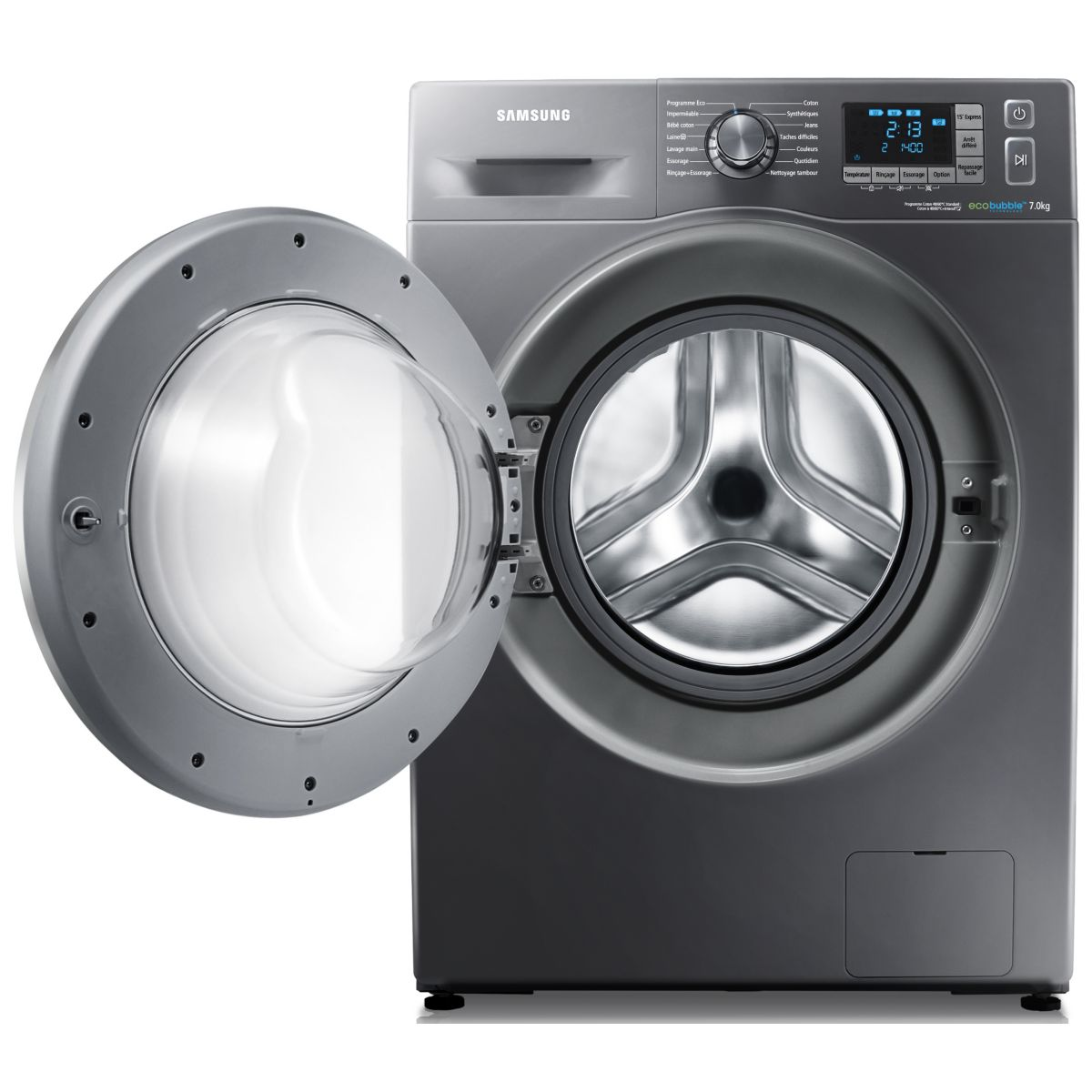 samsung wf70f5e5w4 lave linge frontal eco bubble 7 kg comparer avec. Black Bedroom Furniture Sets. Home Design Ideas
