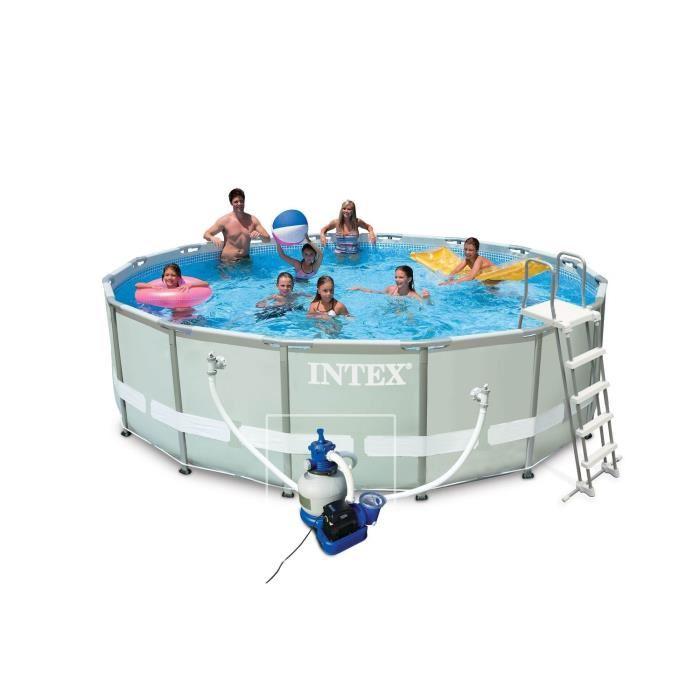 Intex 28324fr piscine hors sol tubulaire pvc acier 488 for Piscine hors sol 5 49x1 22 m easy set intex