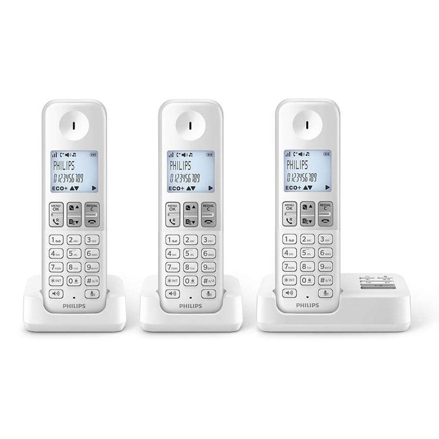 philips d2353w fr trio t l phone sans fil avec r pondeur. Black Bedroom Furniture Sets. Home Design Ideas