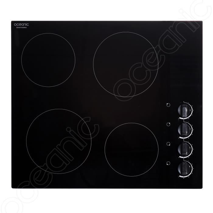Oceanic oceatv4zma2 table de cuisson vitroc ramique 4 - Table de cuisson vitroceramique 2 foyers ...