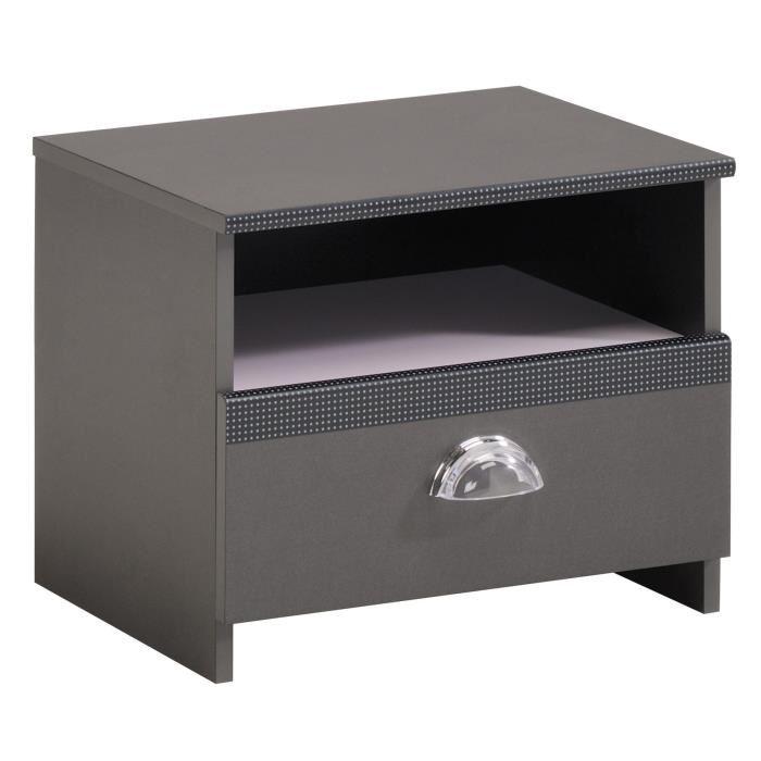 last meubles chevet chic avec 1 tiroir comparer avec. Black Bedroom Furniture Sets. Home Design Ideas