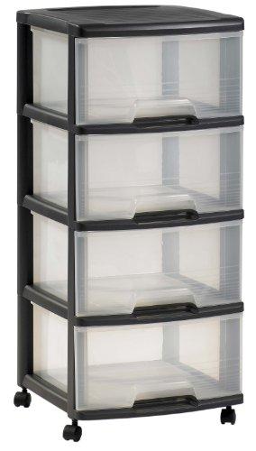 curver commode sur roulettes 4 tiroirs 20 l comparer avec. Black Bedroom Furniture Sets. Home Design Ideas