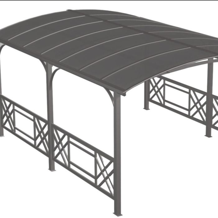 dcb garden pergola rectangulaire avec toit rigide en alu. Black Bedroom Furniture Sets. Home Design Ideas