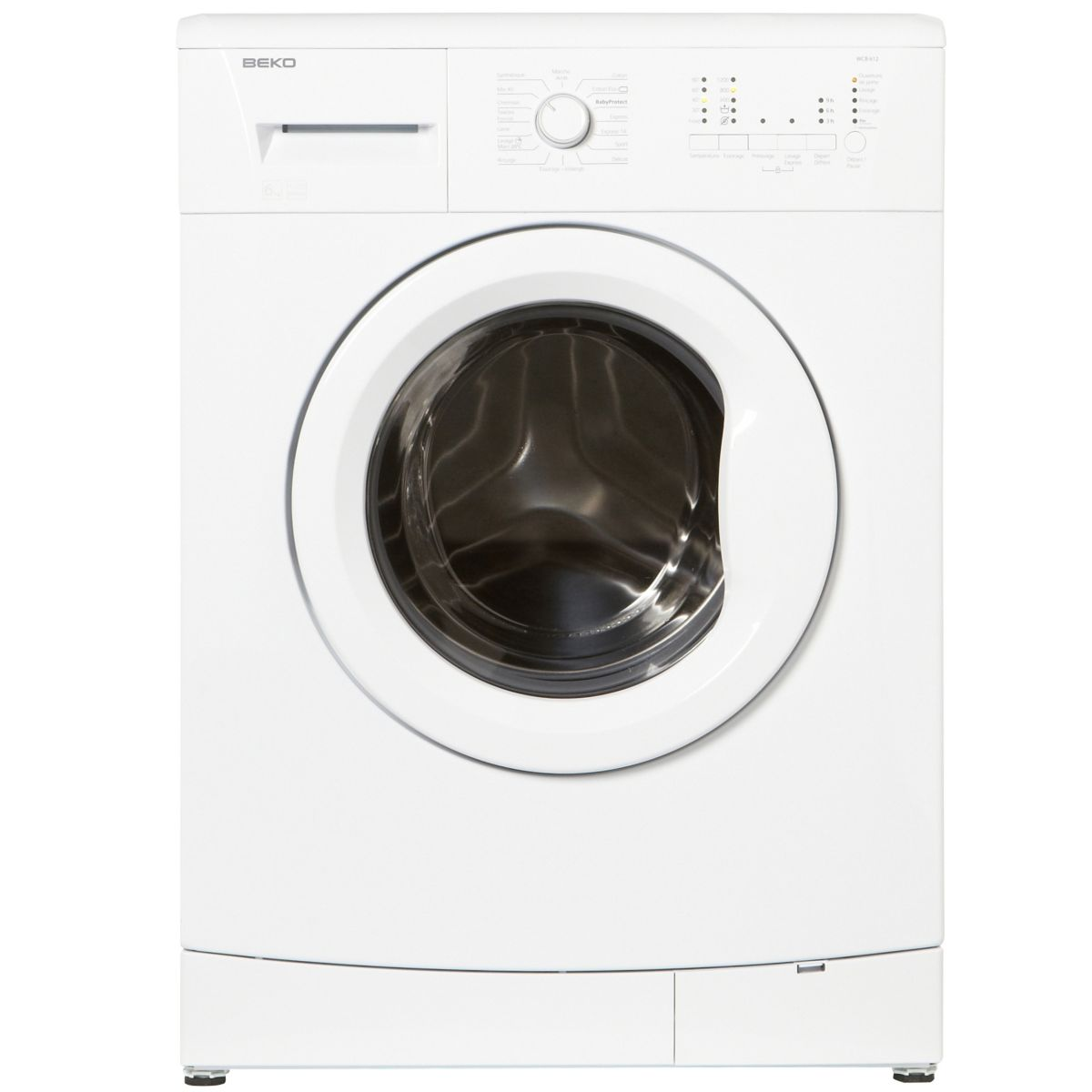 beko wcb 612 lave linge frontal 6 kg comparer avec. Black Bedroom Furniture Sets. Home Design Ideas
