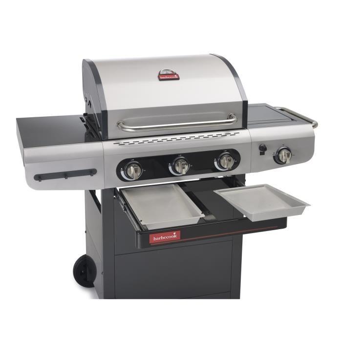 Barbecook siesta 310 barbecue gaz 3 br leurs sur chariot r chaud lat ra - Comparateur de prix gaz ...