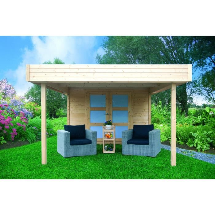 solid s8322 abri de jardin aalborg en bois 28 mm 8 73 m2 pergola 8 74 m2 comparer avec. Black Bedroom Furniture Sets. Home Design Ideas