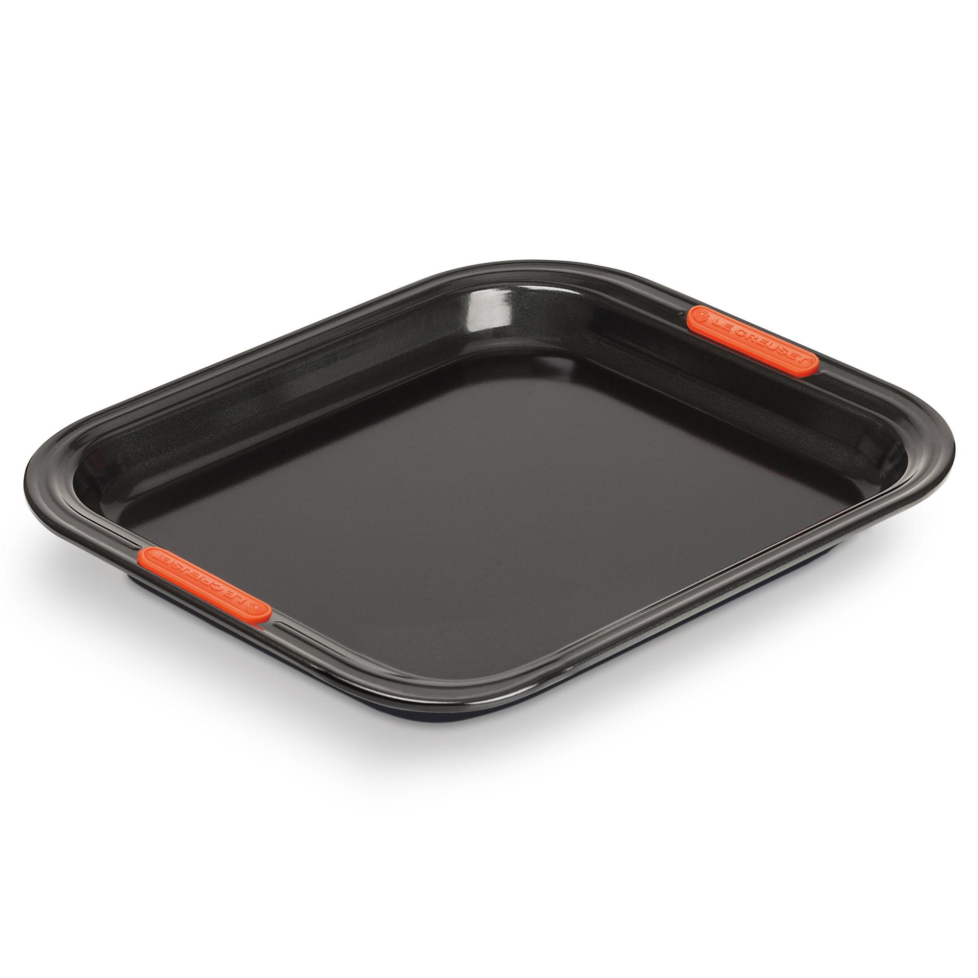 le creuset plaque de cuisson anti adh rent rectangulaire p tiliss en acier silicon 31 cm. Black Bedroom Furniture Sets. Home Design Ideas