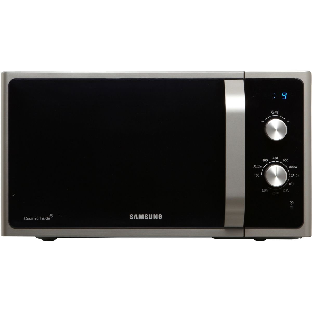 samsung mg23f301efs micro ondes avec grill et cuisson. Black Bedroom Furniture Sets. Home Design Ideas