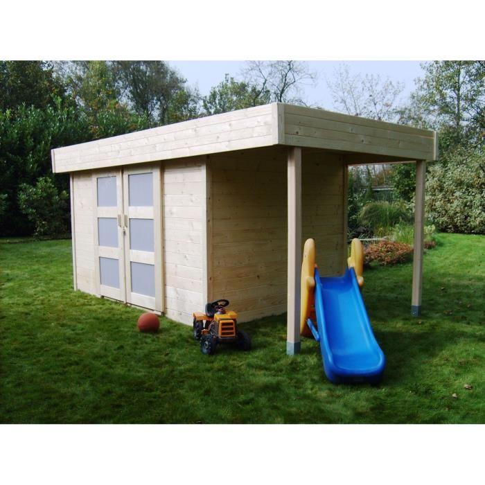 Solid s8221 abri de jardin larvik avec auvent en bois 28 for Auvent de jardin en bois
