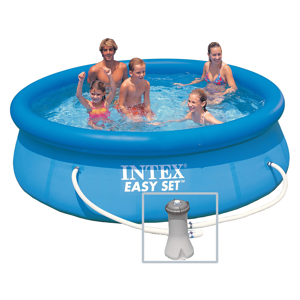 Intex 28122fr piscine hors sol autoportante ronde pvc for Prix piscine intex
