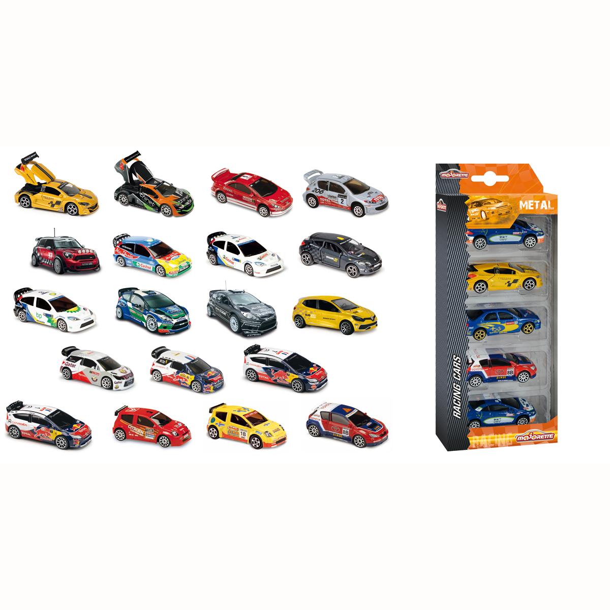 majorette pack de 5 voitures racing mod le al atoire comparer avec. Black Bedroom Furniture Sets. Home Design Ideas