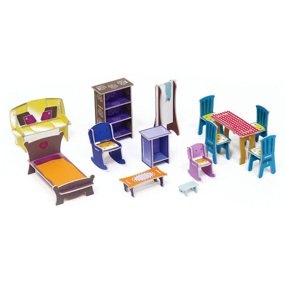krooom maison de poup es et ses miniatures en carton comparer avec. Black Bedroom Furniture Sets. Home Design Ideas
