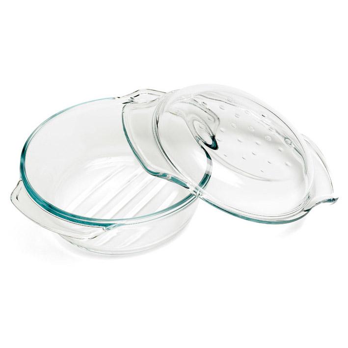 cosy trendy plat four rond en verre avec couvercle comparer avec. Black Bedroom Furniture Sets. Home Design Ideas