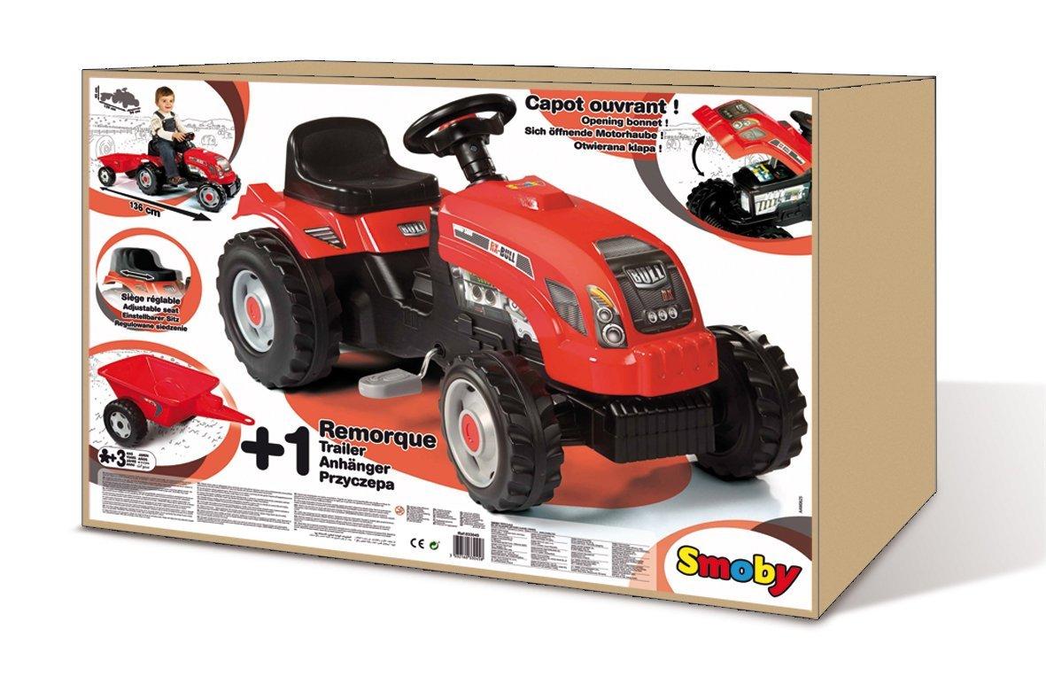 smoby tracteur grand mod le avec remorque comparer avec. Black Bedroom Furniture Sets. Home Design Ideas
